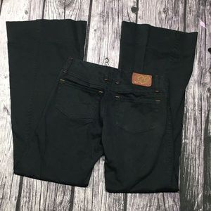Level 99 Flare Wide Leg Pants Size 27 Black
